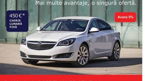 Leasingul operaţional pe înţelesul tuturor (IV). Exemplu practic: Opel Insignia 2.0CDTI Sedan cu transmisie automată