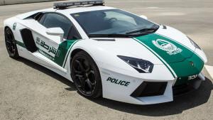 Handout picture showing a Dubai police Lamborghini Aventador