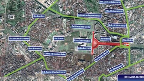 Bulevarde închise sâmbătă, 21 mai, în București