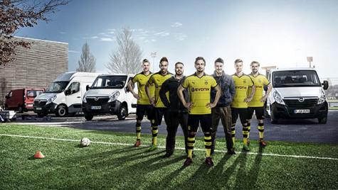 """Utilitarele Opel """"se joacă"""" cu Borussia Dortmund"""