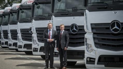 Mercedes livrează 1000 de camioane Actros companiei Girteka