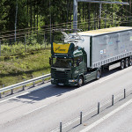 Camion electric Scania drum electrificat