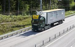 Camionul electric, în teste pe șoselele electrificate din Suedia