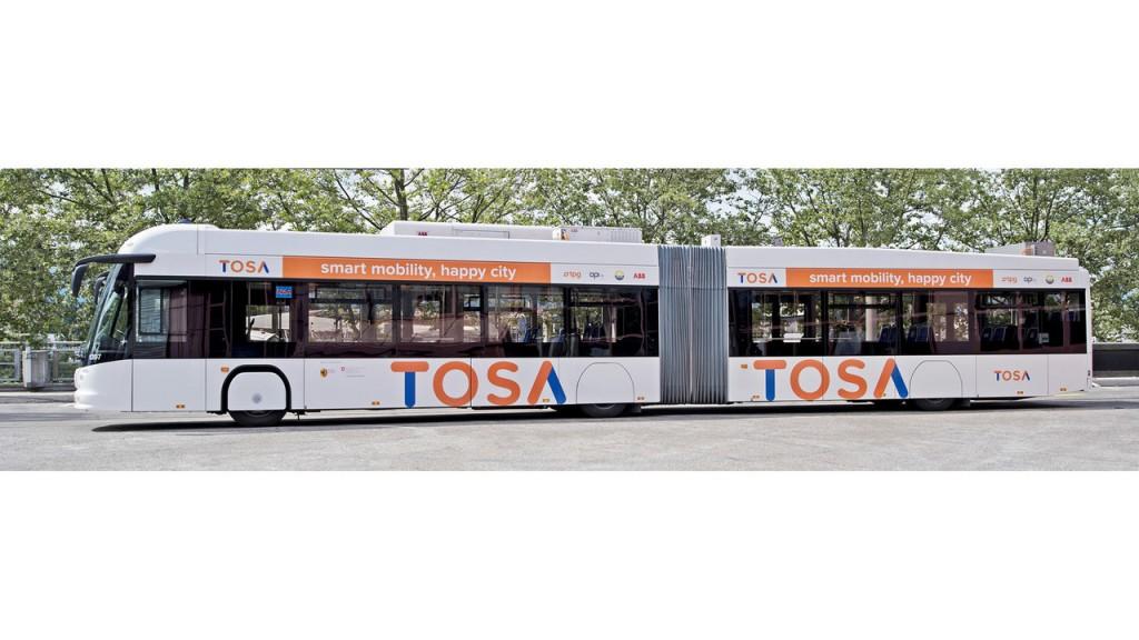 Geneva autobuze electrice TOSA