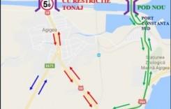 Din 12 septembrie, traficul pe Podul Agigea se închide pentru 3 luni