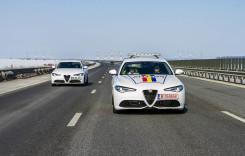 În flota Poliției Române, aleargă o Alfa Romeo Giulia
