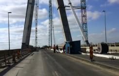 Traficul pe podul de la Agigea a fost redeschis pe toate cele patru benzi