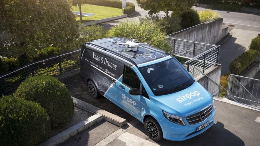 Livrări cu drone și Mercedes-Benz Vito