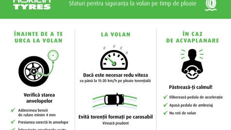 5 sfaturi pentru siguranţa la volan pe timp de ploaie