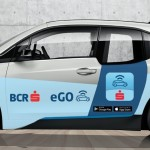 Car-sharing 100% electric prin card bancar contactless