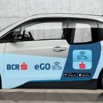 Car-sharing 100% electric prin card bancar contactless