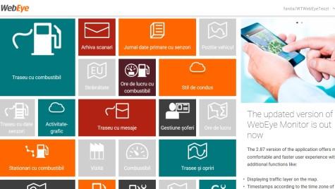WebEye2, noua platformă de soluţii telematice personalizate