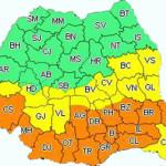 Cod portocaliu de frig şi ninsori în Bucureşti şi 14 judeţe