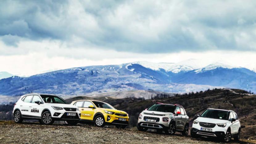 Flota cu mușchi: Citroën C3 Aircross vs Opel Crossland X vs Seat Arona vs Kia Stonic