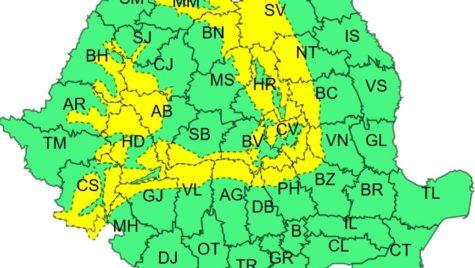 Cod galben de viscol în zona montană