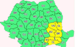 Cod galben de polei în 6 judeţe, inclusiv Bucureşti
