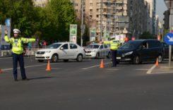 Traficul în Capitală, blocat de protestul taximetriştilor