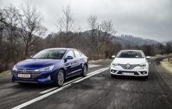 Test comparativ Hyundai Elantra vs Renault Megane Sedan