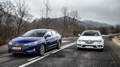 Test comparativ Hyundai Elantra vs Renault Megane Sedan