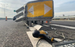 CNAIR montează atenuatori de impact pe două autostrăzi