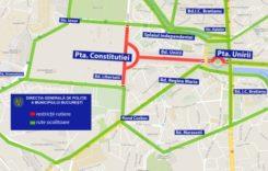 Revelion 2020. Restricţii de circulaţie în centrul Capitalei