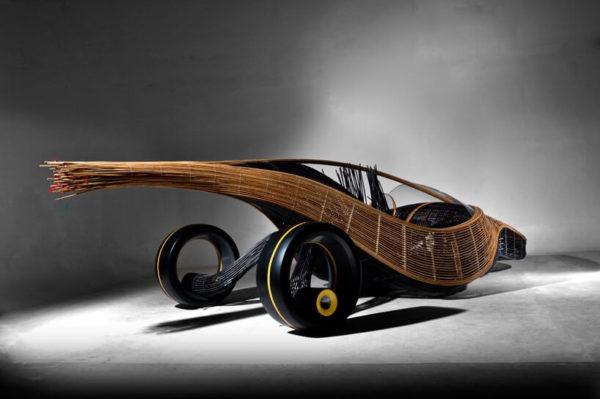 Autoturism realizat din bambus Kenneth Cobonpue