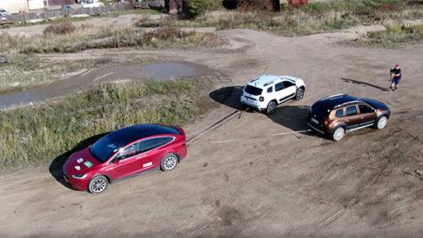 Dacia Duster vs Tesla Model X vs Hummer H1 – video!