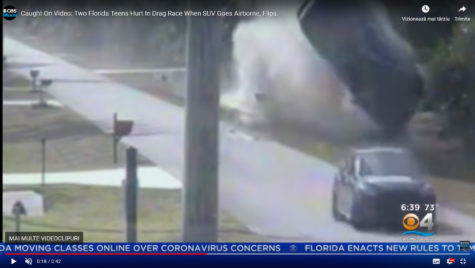 Accident: Lexus RX zboară prin aer și se face zob!