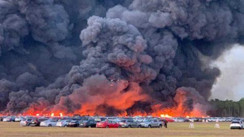 Video: 3.500 de mașini arse într-un incendiu