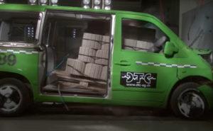 Mercedes-Benz Vito - accident cu microbuzul încărcat