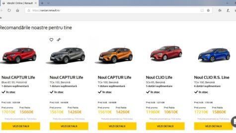 Renault e-commerce: plătești on-line, primești mașina acasă