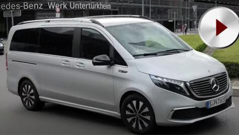 Mercedes-Benz EQV filmat pe străzile din Stuttgart