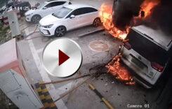 Incendiu la stația de încărcare: video!