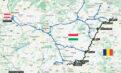 Harta şoselelor pentru tranzitarea Ungariei şi intrarea în România