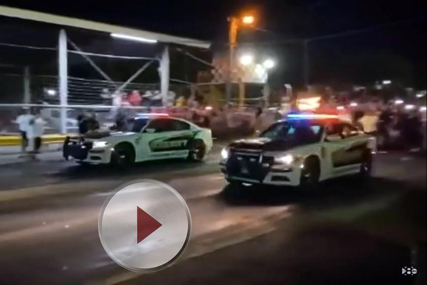 Drag race ilegal mașini poliție floteauto