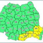 Cod galben de vreme rea. Ninsori moderate în 8 județe, inclusiv în București