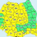 Cod galben de vânt puternic în majoritatea regiunilor